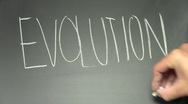 Stock Video Footage of Writing on chalkboard EVOLUTION V2 - HD