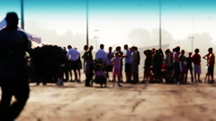 People in Line 2124 Stock Footage