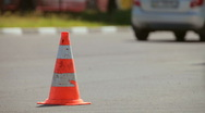 Stock Video Footage of Traffic cone