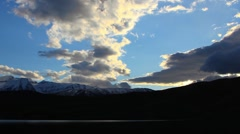 Mount Timpanogas Sunset Timelapse Stock Footage