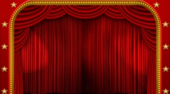 Theatre curtains lights Stock Footage