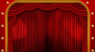 Stock Video Footage of theatre curtains lights