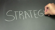 Stock Video Footage of Writing on chalkboard STRATEGY - HD