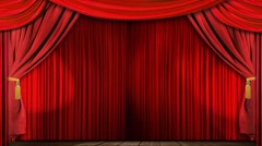Stock Video Footage of theatre curtains fabric