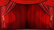 Theatre curtains fabric Stock Footage