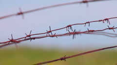 Rusty barbed wire Stock Footage