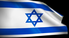 Israel Flag wiper Stock Footage
