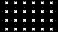 Kaleidoscope b&w graphic pattern with luma mat loop Stock Footage