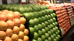 Stock Video Footage of Fresh Fruit and Produce