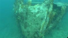 Benwood Wreck Site Flordia Keys Stock Footage