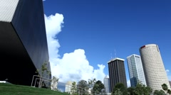 Downtown Tampa Muesum of Art - stock footage