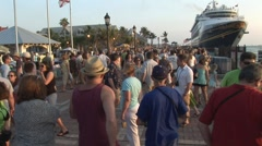 Crowded Mallory Square Stock Footage