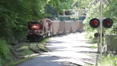 Coal train in WV Stock Footage