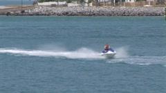 Jet Ski Thru Harbor Stock Footage