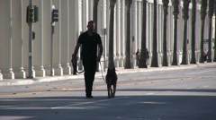 K9 unit checking for bombs before President Obama's arrival - stock footage