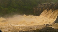 HD Dam Flood Water v3 Raging flood waters - 12secs with audio - stock footage