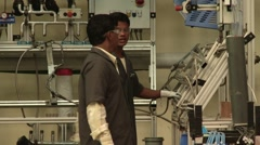 Factory interior Stock Footage