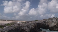 Cozumel Rock Arches Stock Footage