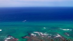 Looking South from Oahu Stock Footage