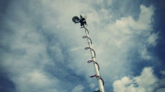 Television News Truck Mast Stock Footage