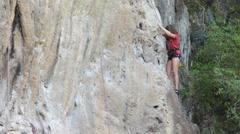 Rock-climber Stock Footage