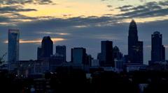 Charlotte NC skyline timelapse 02 Stock Footage