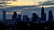 Stock Video Footage of Charlotte NC skyline timelapse 02