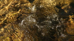 Water River Stones 999 Stock Footage
