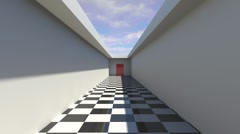 Animation of a hallway Stock Footage