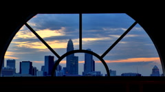 Charlotte NC twilight sky - stock footage