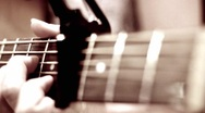 Guitar Dolly shotmov Stock Footage
