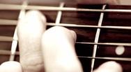 Guitar Chords Macro Stock Footage
