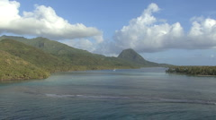 Huahine passing reef Stock Footage