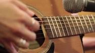 Closeup Guitar Picking Stock Footage