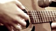 Close up Playing Guitar Stock Footage