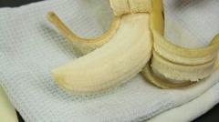 Bananas On Weet Bix Stock Footage