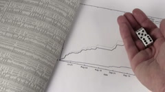Stock chart with dice toss V2 - HD Stock Footage