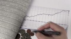 Stock Video Footage of Dow Jones chart V1 - HD