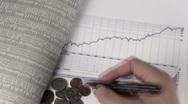 Dow Jones chart V1 - HD Stock Footage