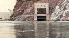 Bottom of Hoover Dam Stock Footage