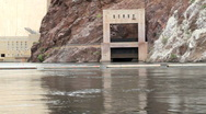 Stock Video Footage of Bottom of Hoover Dam