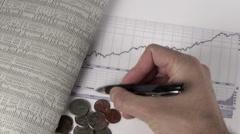 Dow Jones chart V4 - HD Stock Footage