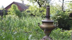 Russian samovar Stock Footage