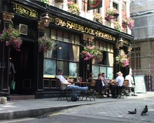 Sherlock Holmes Pub, London England GFSD Stock Footage
