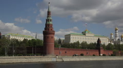 Gun at the walls of the Kremlin Stock Footage