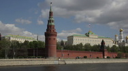 Stock Video Footage of gun at the walls of the Kremlin