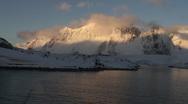 Antarctic Sunset Stock Footage