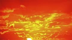 Beautiful sunrise. Time lapse Stock Footage