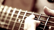 Guitar rack focus studio setting Stock Footage