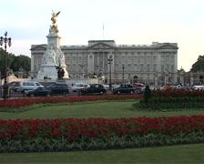 Pan across Buckingham Palace, London England GFSD Stock Footage
